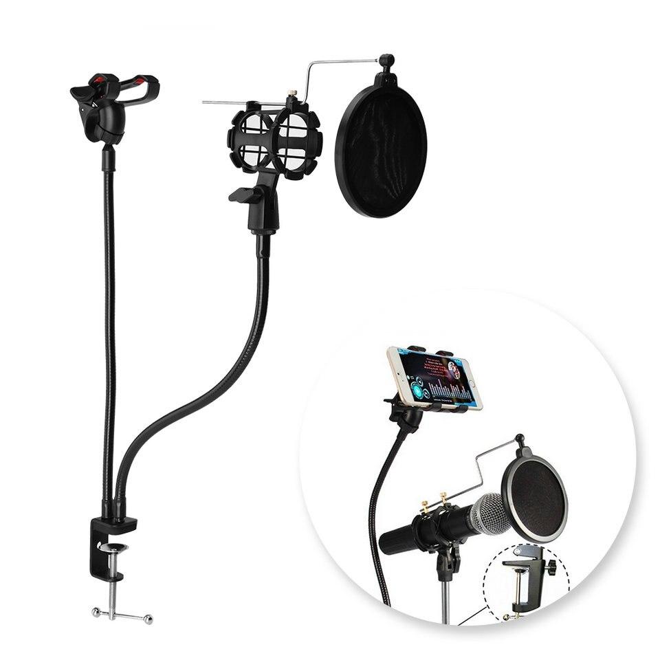 Unterhaltungselektronik LiebenswüRdig Professionelle Mikrofon Halterung Halter Mit Clip Für Karaoke Mv Universal Kostenloser Versand Taille Und Sehnen StäRken