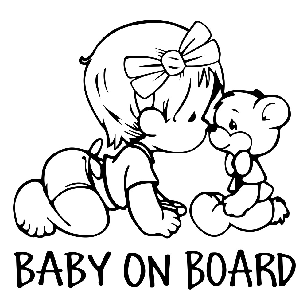 Rylybons 1pcs 14 15cm Car Stickers Baby On Board Window