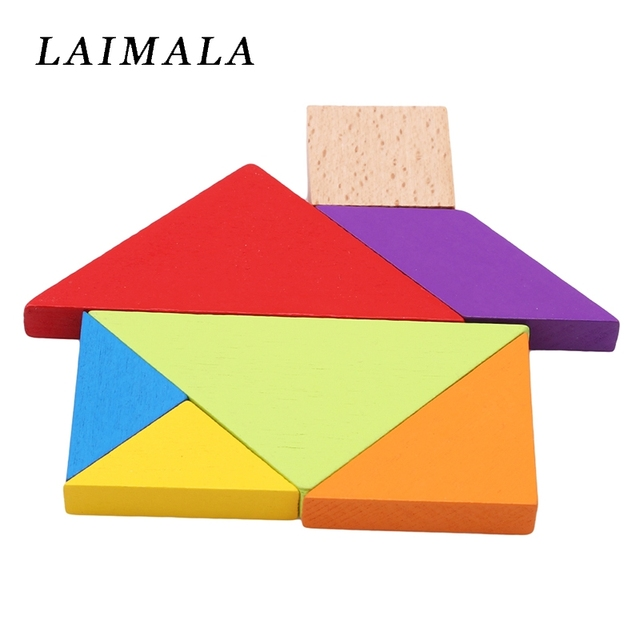 US $4 02 5% OFF|Baby Kids Wooden Puzzle Geometric Shapes Learning  Educational Toy 3D Geometry Puzzles Montessori Toys Wooden Puzzle Toys-in  Puzzles