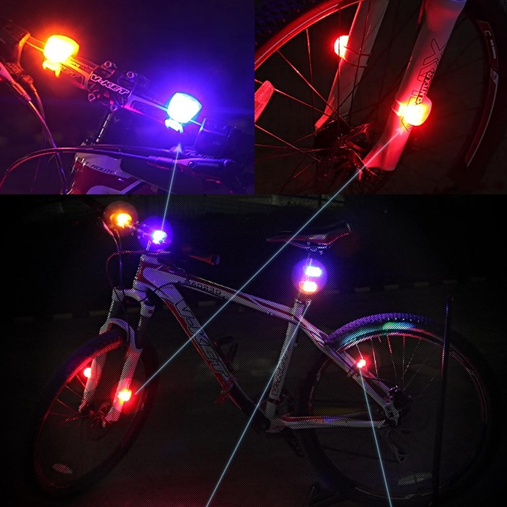 1pcs White LED Bicycle Bike Cycling Silicone Head Front Rear Safety Light Lamp