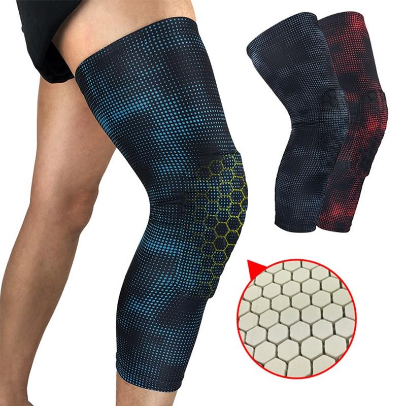 1 Pcs Honeycomb Basketball Knee Pads Knee Brace Calf Leg Sleeve Cycling Patella Protection Gym Fitness Kneelet Sports Kneepad