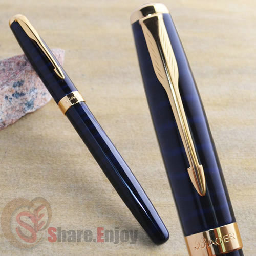 Free Shipping! BAOER 388 Red Marble Fountain Pen with 5 ink cartridges
