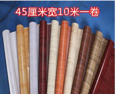 PVC Sticky Wallpaper Wallpaper From Wood Closet Cupboard Door Wardrobe Renovation Imitation Wood With Thick Wall Stickers-334