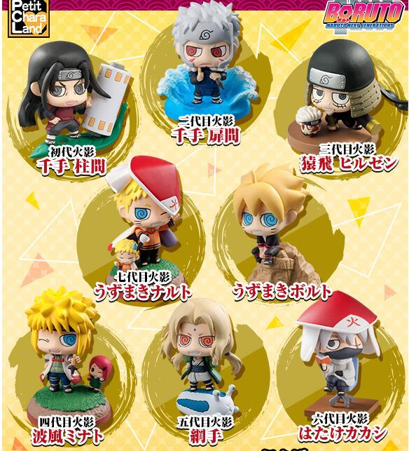 8pieces/set Naruto Tsunade Hatake Kakashi Uzumaki Naruto Anime Action Figure PVC toys Collection figures for friends gifts anime naruto pvc action figure toys q version naruto figurine full set model collection free shipping