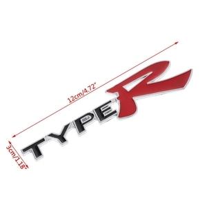 Image 5 - 3D Emblem Badge Sticker Decal Metal Type R For Honda CR V XR V HR V Accord Jazz