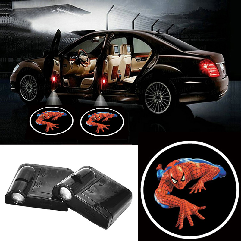 Volkrays 2 X Wireless Car Door Light Laser Welcome Ghost Shadow Projector Spiderman Logo Light for Mazda 2 3 MX 3 MX 5 CX3 CX5 in Signal Lamp from Automobiles Motorcycles