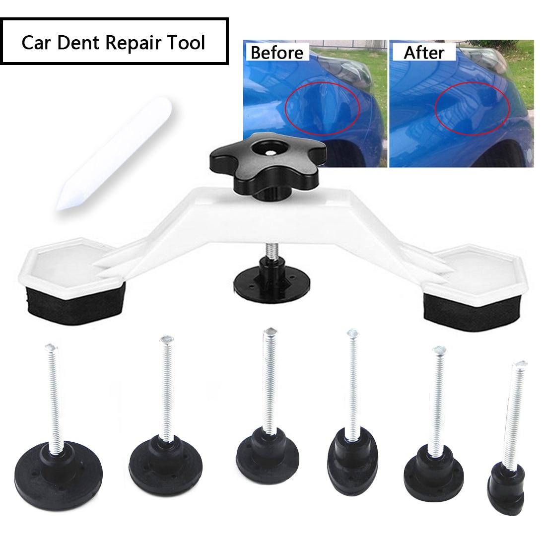 Fix Dent Repair Tool Kit 8pcs Instrument Paintless Auto Car Body Damage Pulling Bridge Removal Glue Tab Tool Hand Tool Set Newly(China)