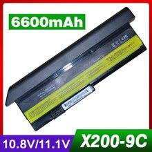 6600 мАч Аккумулятор для ноутбука lenovo thinkpad X200 7454 7455 7458x200 S 7465x200 S X200si X201 x201-3323 X201i X201s батарея для ноутбука