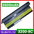 6600 mah batería del ordenador portátil para lenovo thinkpad x200 7454 7455 7458x200 s 7465x200 s x200si x201 x201i x201-3323 x201s