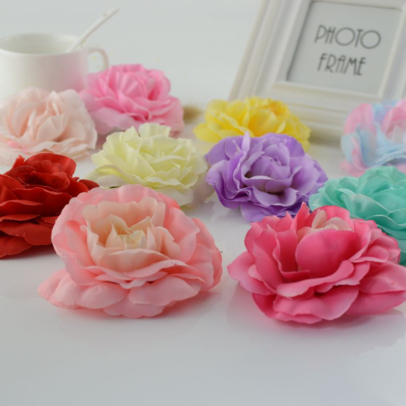 1pcs artificial flower For home tea rose crafts handicraft DIY wreath Wedding Car Decoration Bride Bouquet simulation Flower