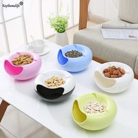 Keythemelife Creative Melon Seeds Nut Bowl Table Candy Snacks Dry Fruit Storage Box Plate Dish Tray