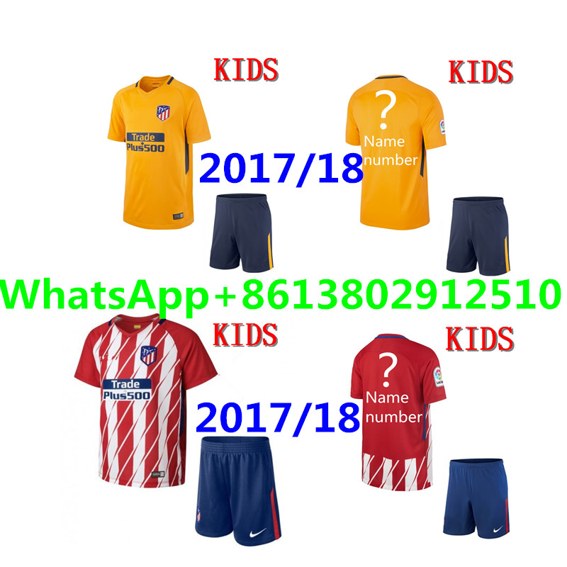 9b8fb68f7 ... home rugby jerseys 2017 2018 away 2017 Thai football jerseys Quality  Atleticoed Madrided kids kit soccer Jersey Shirts 16 17 child suit Soccer  Men ...
