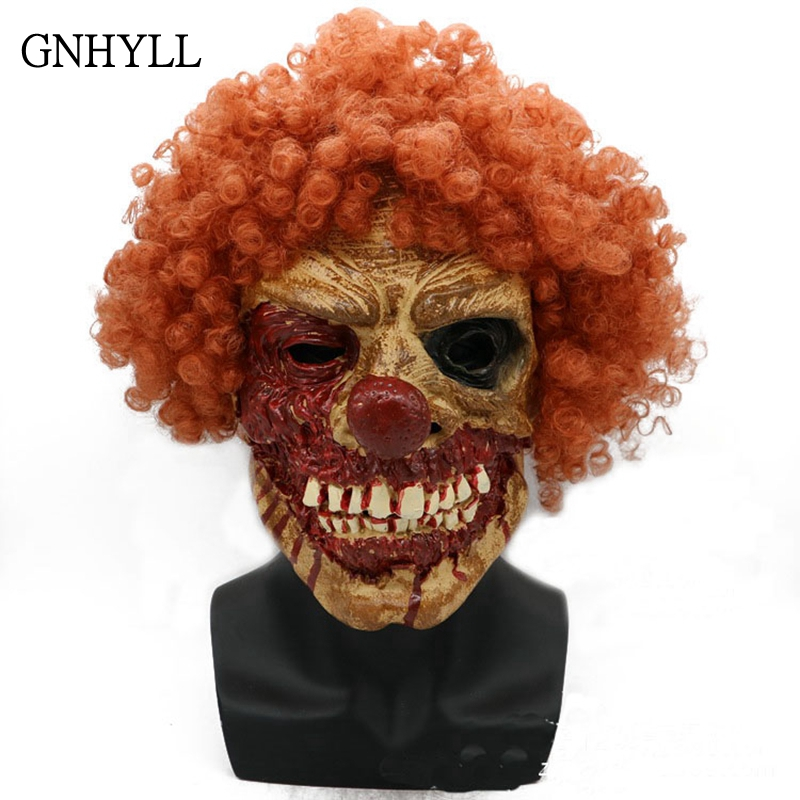 GNHYLL Joker Clown Costume Mask Creepy Evil Scary Halloween Clown Mask Adult Ghost Festive Party Mask Supplies Decoration