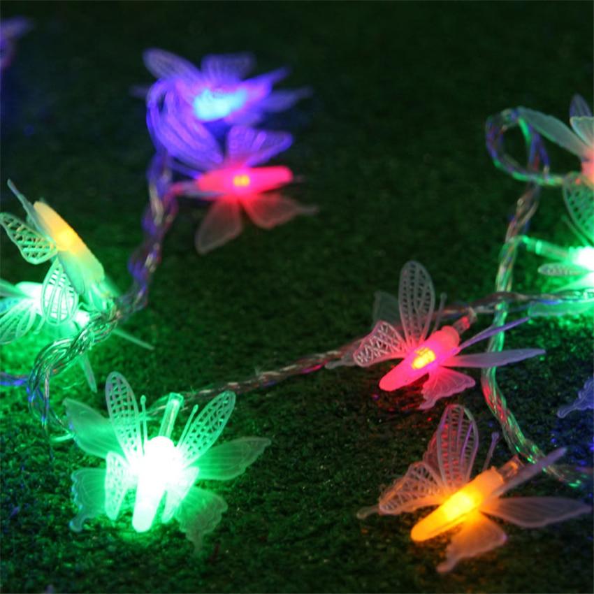 Новые 5M 40 лампочек светодиодные гирлянды огни украшения герлянда бабочка строки огни рождественские декоративные огни свадьба фея огни