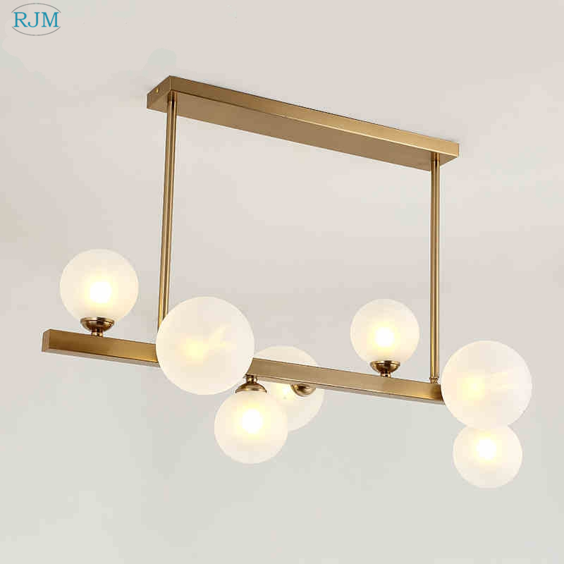 Nordic Simple Glass Creative Bubble Designer Personality Pendant Lights for Living Room Restaurant Hotel Model Room Lightings