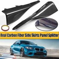 Стайлинга автомобилей Реальные углеродного волокна Материал гонки сторона юбки Панель разветвители чашки крылья клапанами флаги для BMW F87
