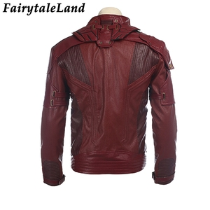 Image 4 - Star Lord Jacket short jacket cosplay Halloween Gloves Guardians of the Galaxy 2 Belt Star Lord cosplay Pants leather jacket