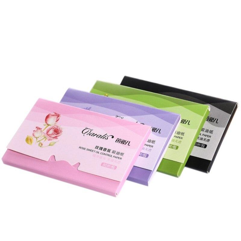 80 Pcs Summer Portable Facial Absorbent Paper Oil Absorbing Sheet Oily Face Blotting Cleanser For Men Women Makeup Tools 2018