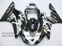 Дешевые Мотоцикл впрыска ABS пластик обтекатели комплект для YAMAHA 1998 1999 YZF R1 98 99 black virqin factory обтекателя комплекты