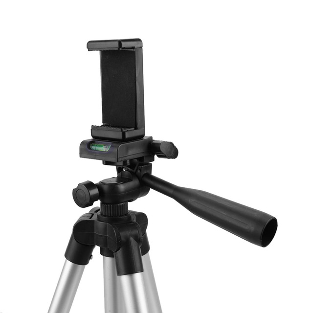106 cm Portable Tripod Stand With Mobile Phone Clip