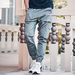 Image 2 - Enjeolon 2020 New Summer Mens Cargo Pants Men Joggers Military Casual Solid Cotton Pants Hip Hop Male Army Trousers KZ6345