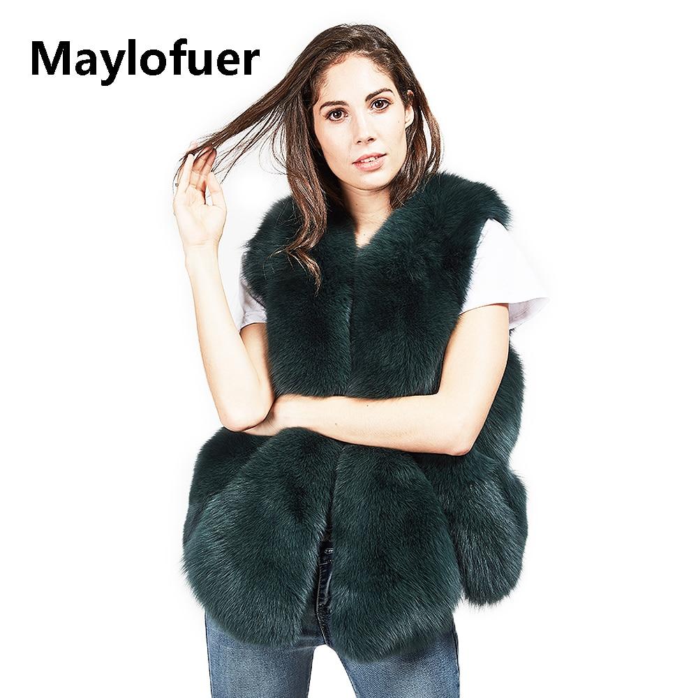 Lady Gilet Femmes De Réel Renard Naturel Fourrure 2 Couleurs Maylofuer yA4qTf1B4