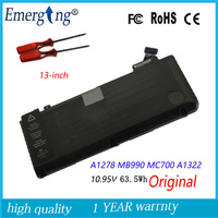 10.95v 63.5Wh New Original A1322 Laptop Battery for APPLE Macbook Pro 13 A1278 Mid 2009/2010/2011/2012 With Tools