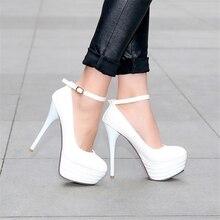 ปั๊มรองเท้าผู้หญิงสิทธิบัตรหนังใหม่33 45 44 43 42 40 41 42 43 44 45ส้นสูง13.5เซนติเมตรแพลตฟอร์ม4เซนติเมตร32-46