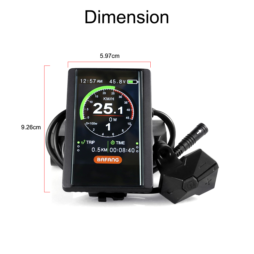 Electric Bicycle 850C LCD Display Controller For Bafang BBS BBSHD Motor Kits