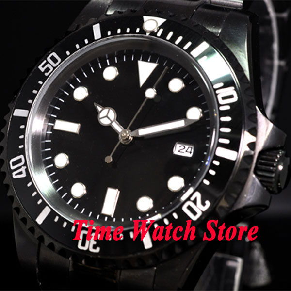 Parnis watch 42mm black dial  PVD case Luminous SEA  Automatic Self-Wind movement  Mens watch 73 relogio masculinoParnis watch 42mm black dial  PVD case Luminous SEA  Automatic Self-Wind movement  Mens watch 73 relogio masculino
