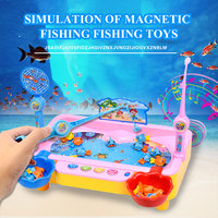 Musical Fishing Game Magnetic Multifunction Toys Educational Fishing Toys Swimming Fish Electric Toy Hunting Ducks Game