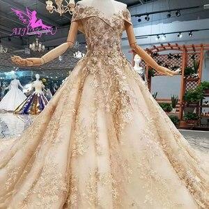 Image 4 - AIJINGYU زفاف Aliexpress يتغلب على أسعار معقولة مع الأكمام I Frocks بسيطة للعروس الحب فساتين زفاف مذهلة