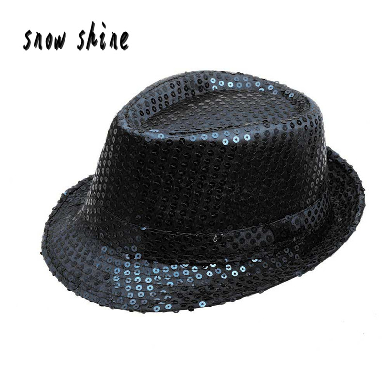 snowshine YLI Sequined Hat Dance Stage Show Performances free shipping