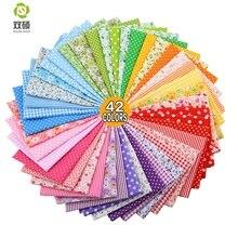 Bawełna zwykły tkaniny Telas Patchwork tkaniny Fat Quarter pakiety tkaniny do szycia Patchwork lalki tkaniny 50*50 CM42 sztuk /LOT