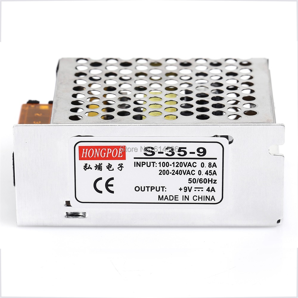 1Pcs Best quality 9V 4A 35W Switching Power Supply Driver for LED Strip AC 100-240V Input to DC 9V 36pcs best quality 12v 30a 360w switching power supply driver for led strip ac 100 240v input to dc 12v30a