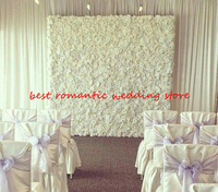 2.4M x 2.4M white Wedding Rose with Hydrangea Flower Wall Flower Backdrop with aluminium flower wall pipe stand