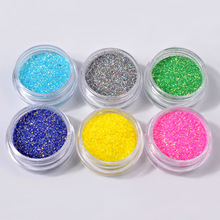2g/Box Holographic Laser Nail dipping Powder Charm Dust Candy colors Glitter Decorations Art DIY Manicure Designs