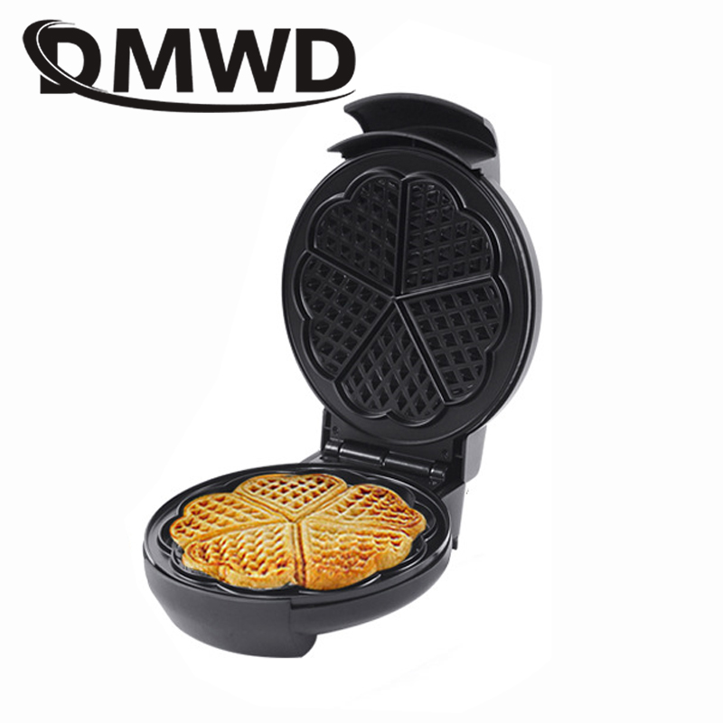 DMWD Electric Waffle Maker Crepe Toaster Non-stick Household Muffin Iron Buuble Eggs Cake Oven Breakfast Baking Machine EU plug mini electric waffle maker machine muffin toaster household non stick bubble waffle breakfast machine free shipping