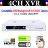 New CCTV 4CH Channel 1080P NVR AHD TVI CVI DVR 1080N 5 In 1 Video Recorder