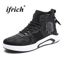 Men Casual Shoes High Top Men Walking Sneakers Black Blue Comfortable Mens Flats Spring Auttumn Designer Shoes Men Trainers