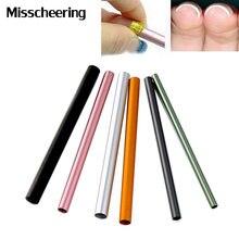 Kolorowe metalowe pręta C krzywe kije 6 sztuk/zestaw DIY przewodnik akrylowe Manicure do paznokci do paznokci narzędzia artystyczne