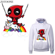 ZOTOONE Cartoon Unicorn Patch Iron On Transfers for Clothes Heat Transfer DIY Appliques Decoration Christmas Gift For Kids E