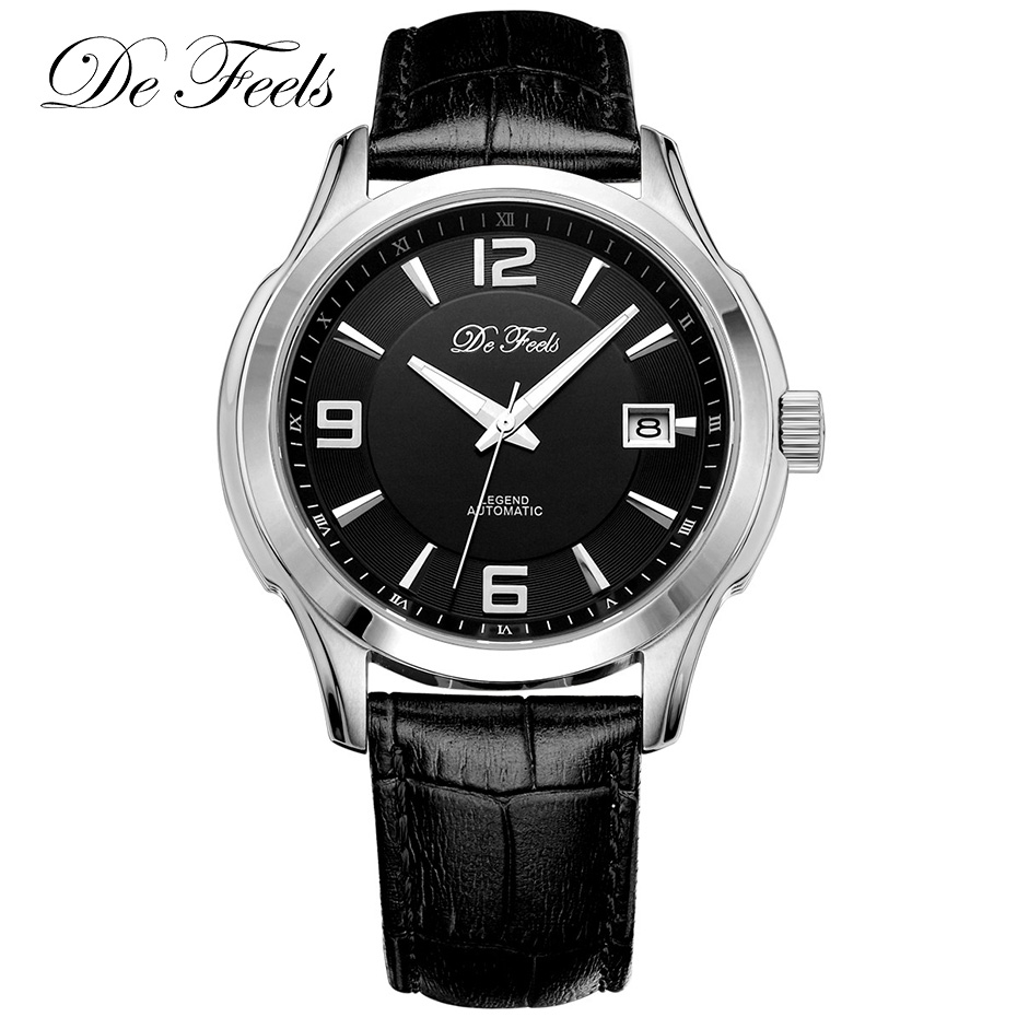 Men's Business Sapphire Crystal Watch Men Classic Automatic Mechanical Watches DEFEELS Male Clock Wristwatch Relojes Hombre NH35