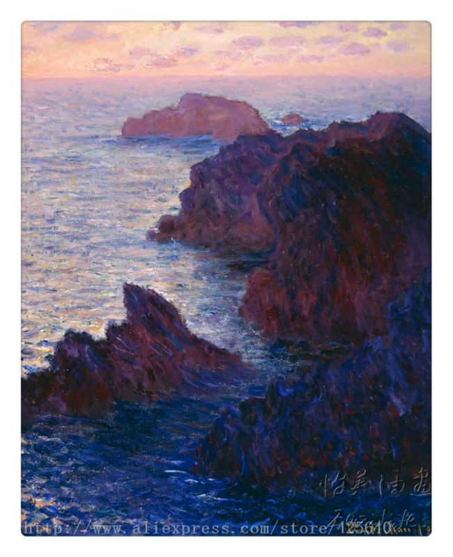 Monet Beach Seaside oil painting  impressionist Seascape Oil painting  seaside on canvas hight Quality Hand-painted Painting 6