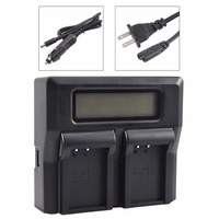 DSTE LCD163A Dual Battery Charger with USB Port for Canon LP E17
