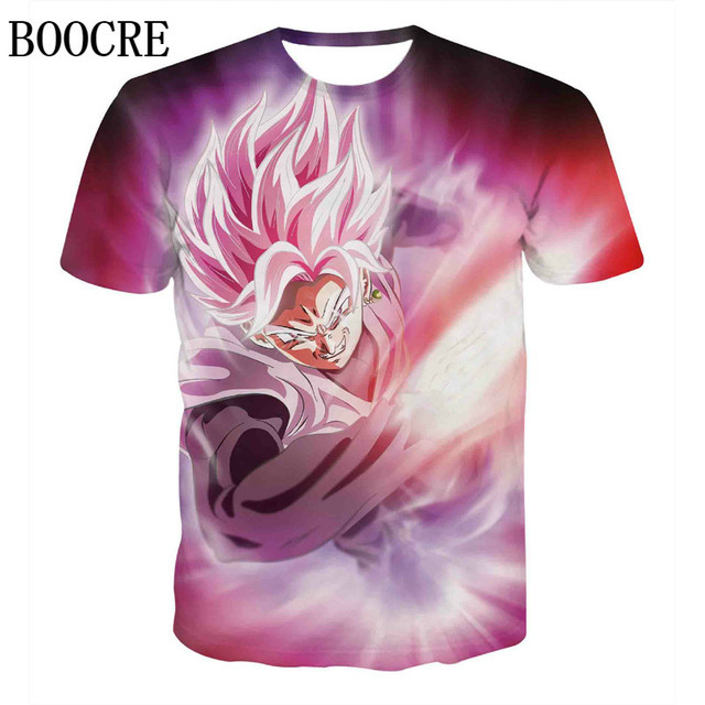 9ae7febd Dragon Ball Z T-shirts Mens Summer Fashion 3D Printing Super Saiyan Son Goku  Black Zamasu Vegeta Dragonball T Shirt Tops Tee