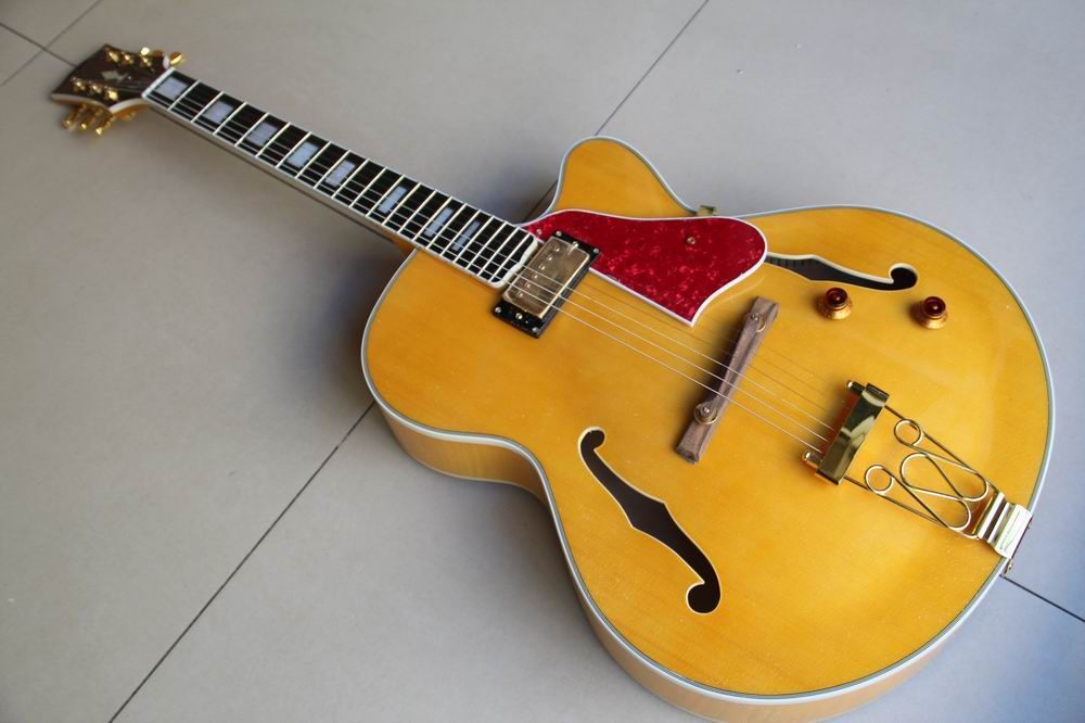 Wholesale new G Cnbald L-5 Jazz Electric guitar ES 175 semi hollow ES175 in yellow 111215 wholeslale dave grohl dg335 es 335 6 string electric guitar with great logo es 335 in white 100913