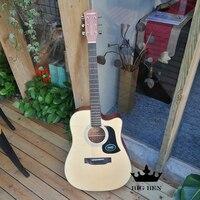 41 inç picea asperata lamine akustik gitar ve dahili pikap halk gitar op-seviye craftwork oynamak ve şarkı seviyesi
