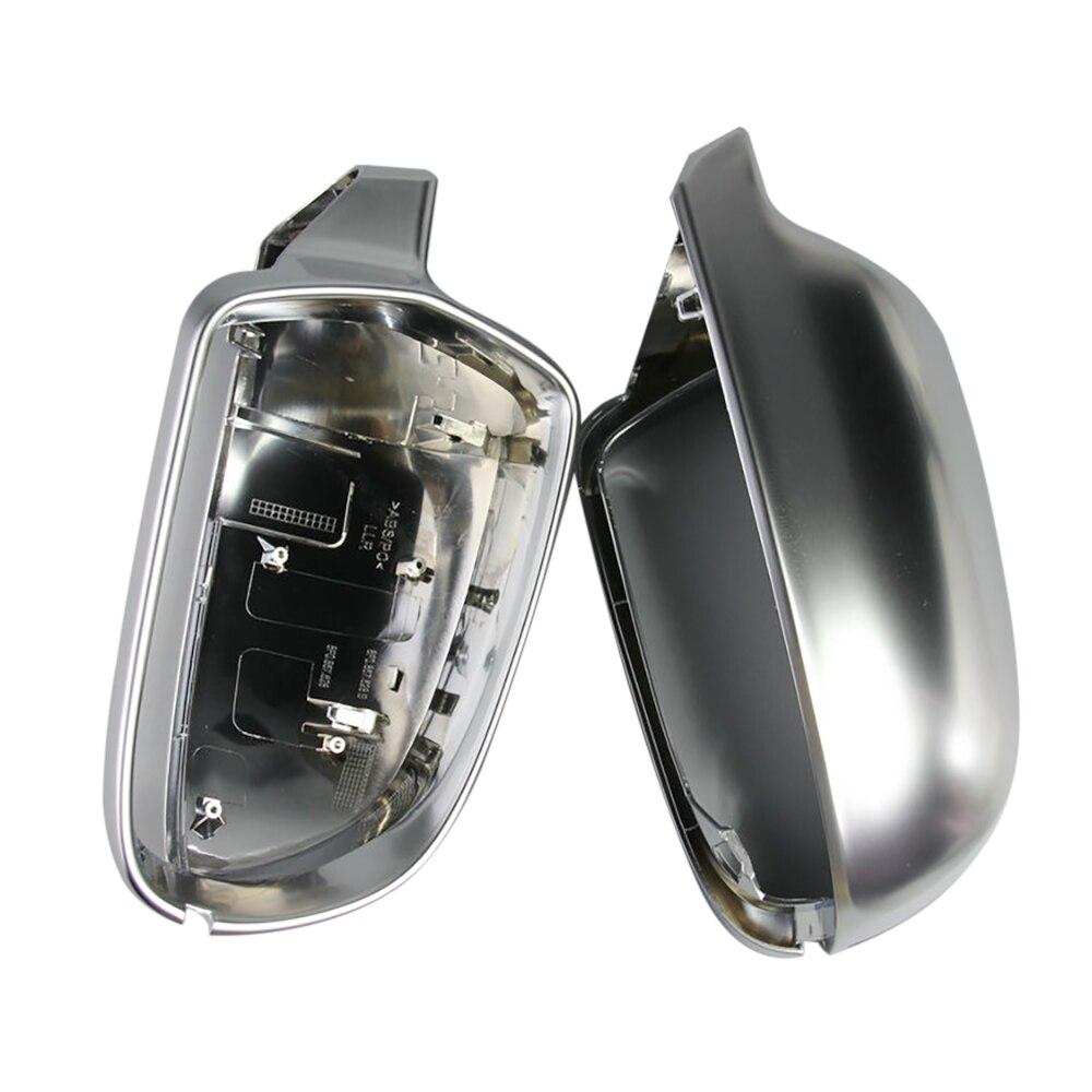 1 paire de coque de rétroviseur Auto coque de Protection Chrome mat pour Audi B8.5 A3 A4 A5 couverture de miroir de voiture