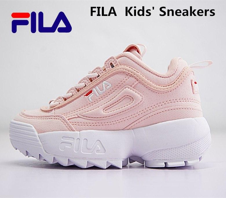 FILAS  Disruptor II 2 generation large sawtooth  Kids Sneakers  shoes size 28-35  FW0165-0151FILAS  Disruptor II 2 generation large sawtooth  Kids Sneakers  shoes size 28-35  FW0165-0151